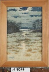 Winter night [Akvarell ]