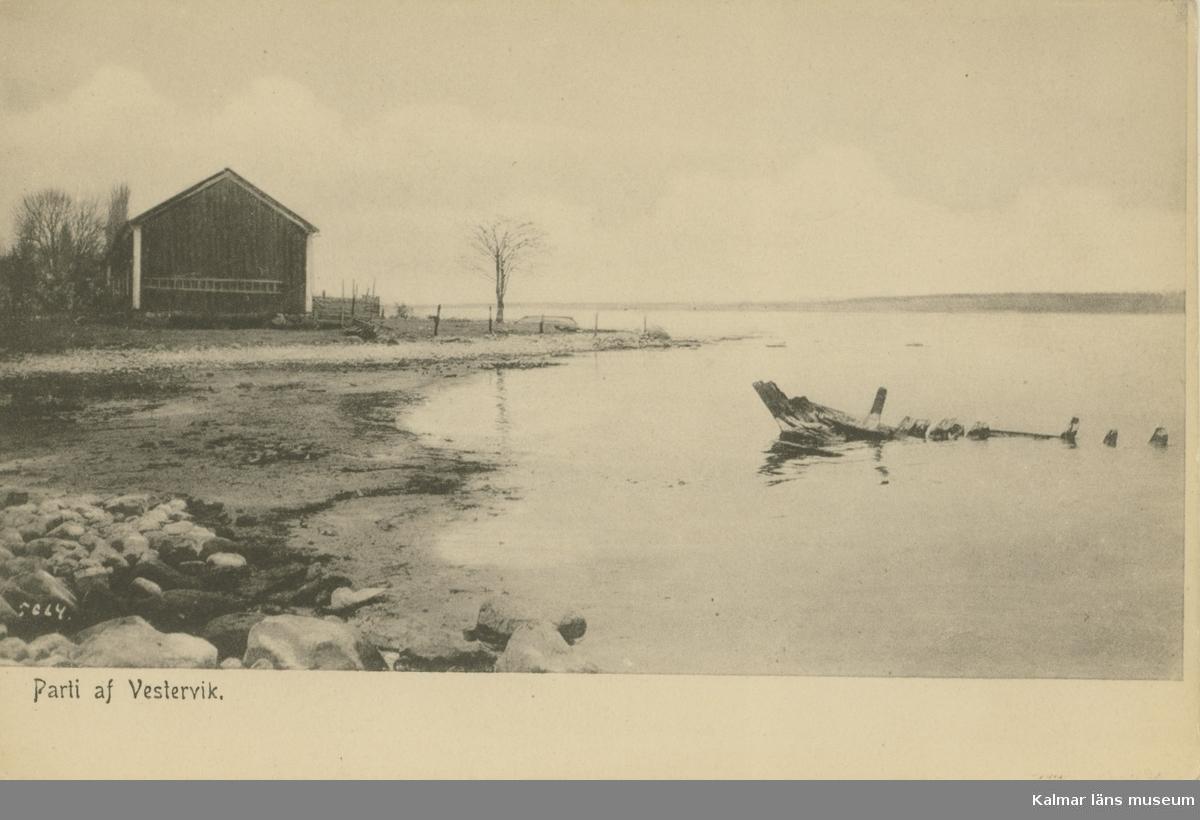 Ett vykort med motiv från Västervik.