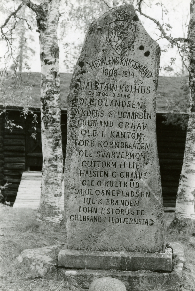 Bautastein på Bautahaugen samlinger, Sør-Aurdal.