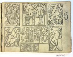 Skisser av kristne middelalderscener [Tegning]