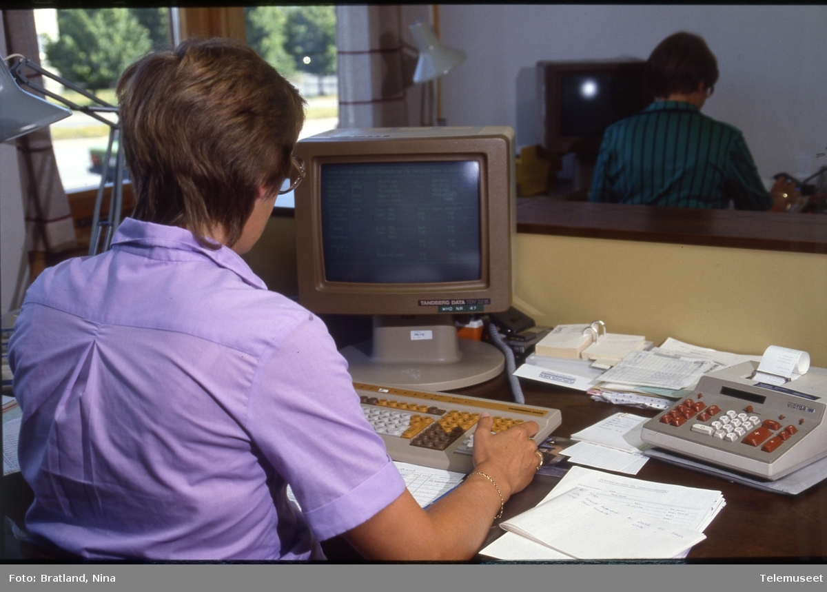 Dataterminaler kontormiljø Norsk Data