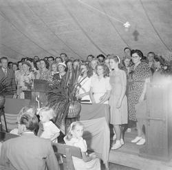 Missionsförsamlingen, tältmöte, Nyby, Uppsala 1947