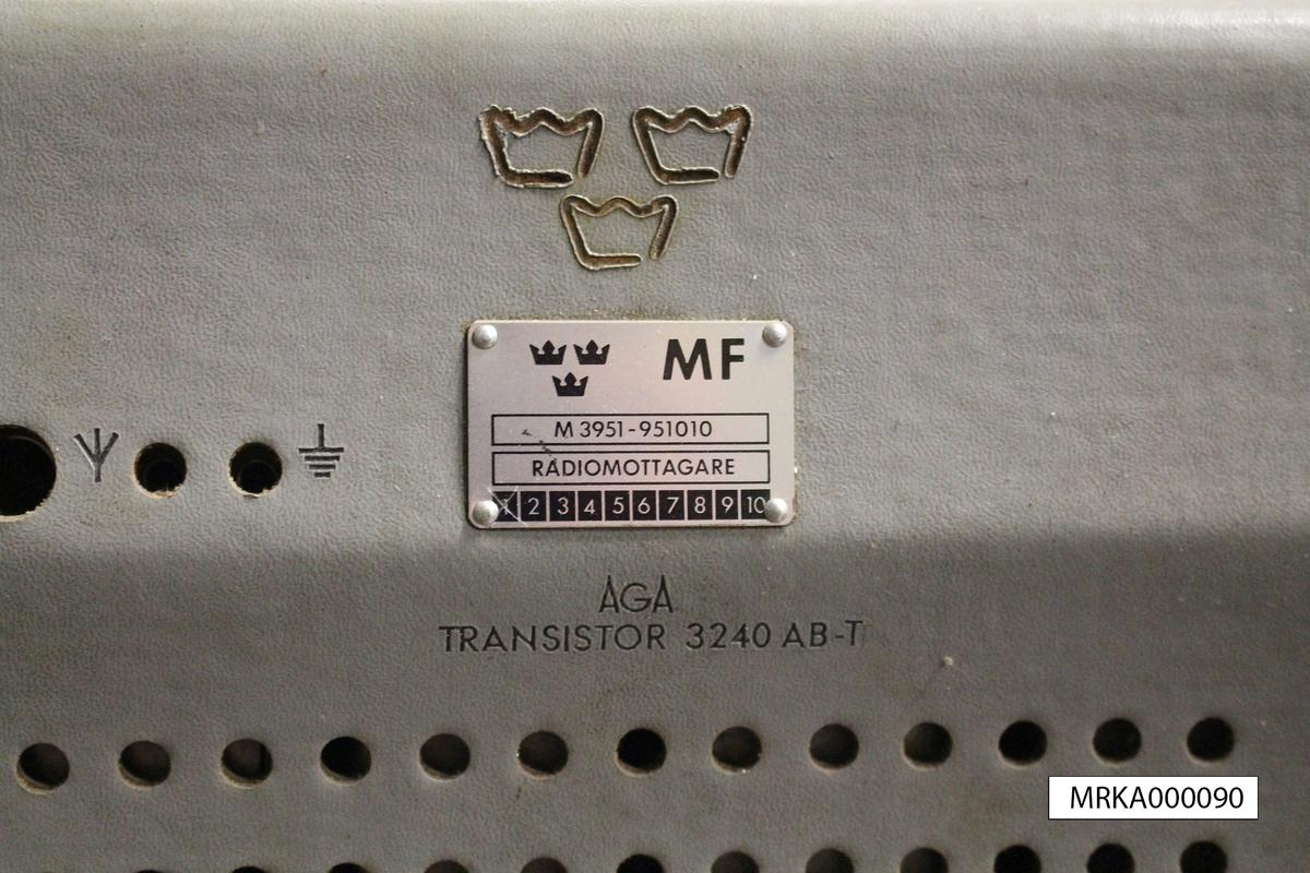 Ursprungsbeteckning: AGA Transistor 3240 AB-T