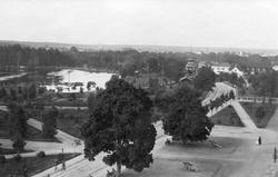 Utsikt från I 14:s kasern mot Reimers bostad med Gavleån til