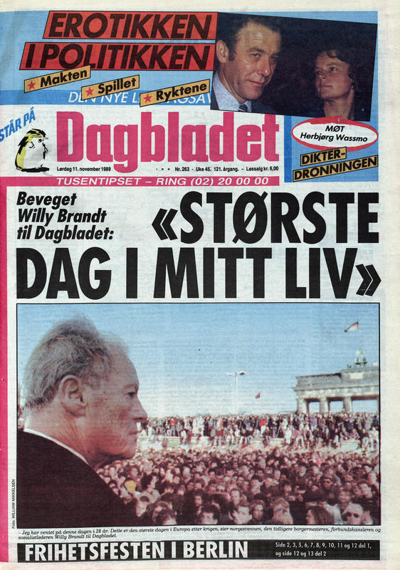 Dagbladet 1989 (Foto/Photo)