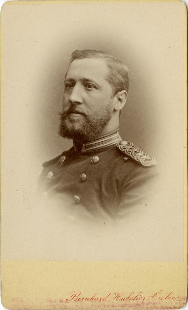 Porträtt av Hugo Axel Johan Zigler, löjtnant vid Värmlands regemente I 22.