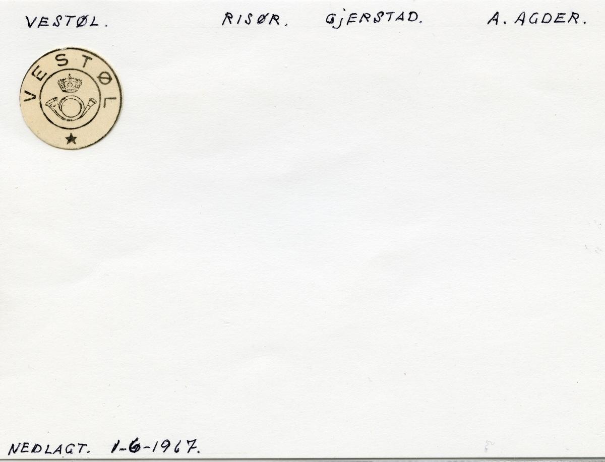 Vestøl, Risør, Gjerstad, Aust-Agder