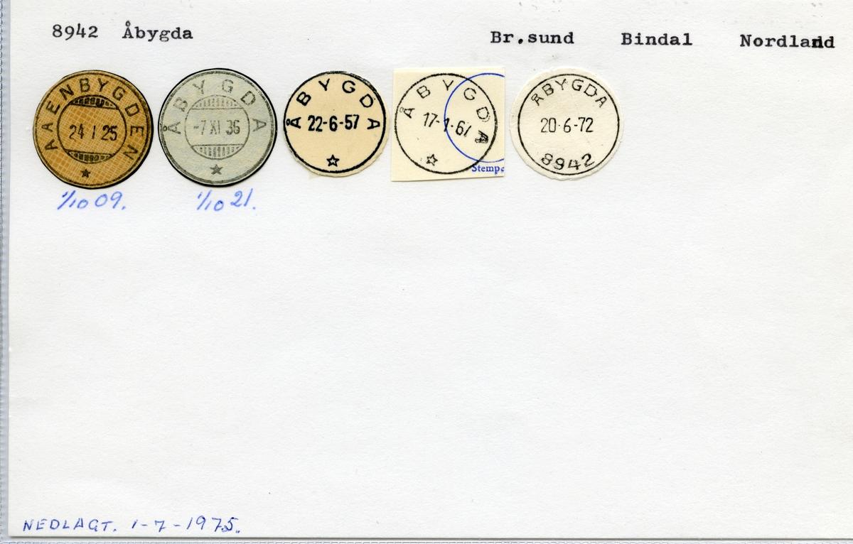 8942 Åbygda (Aaenbygden), Brønnøysund, Bindal, Nordland