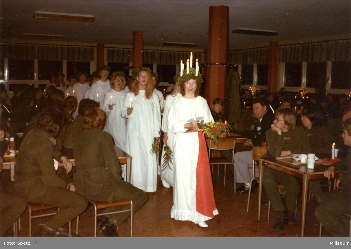 Luciafirande, A 6. Militärrestaurangen, matsalen.