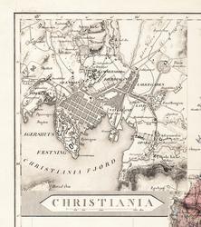 Christiania og kvadraturen [Kart]
