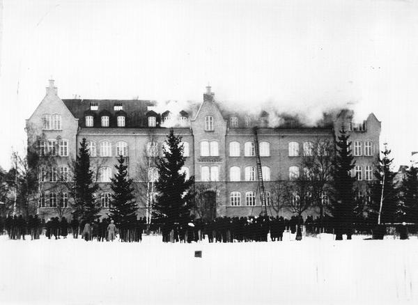 Brand i skola i linkoping