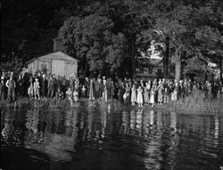 """""""Strömsimningen publiksuccés"""", Uppsala 1935"""