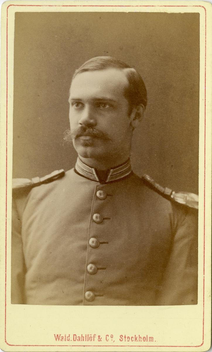 Porträtt av Thomas Nyström, officer vid Fortifikationen.
