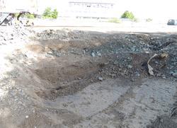 Arkeologisk schaktningsövervakning, äldre dräneringsschakt,