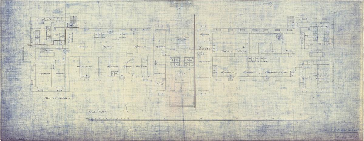 Kasern Ankarstjärna, plan av källaren