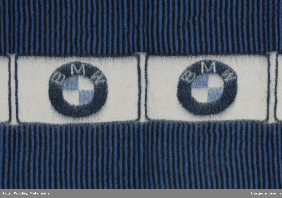 Bilpledd Striper og BMV-logo i ruter