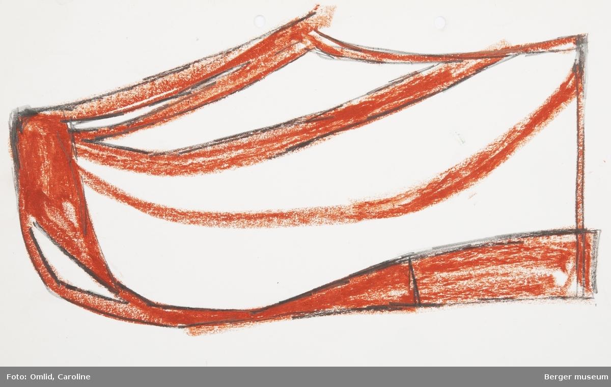 Skisse med brun fettstift