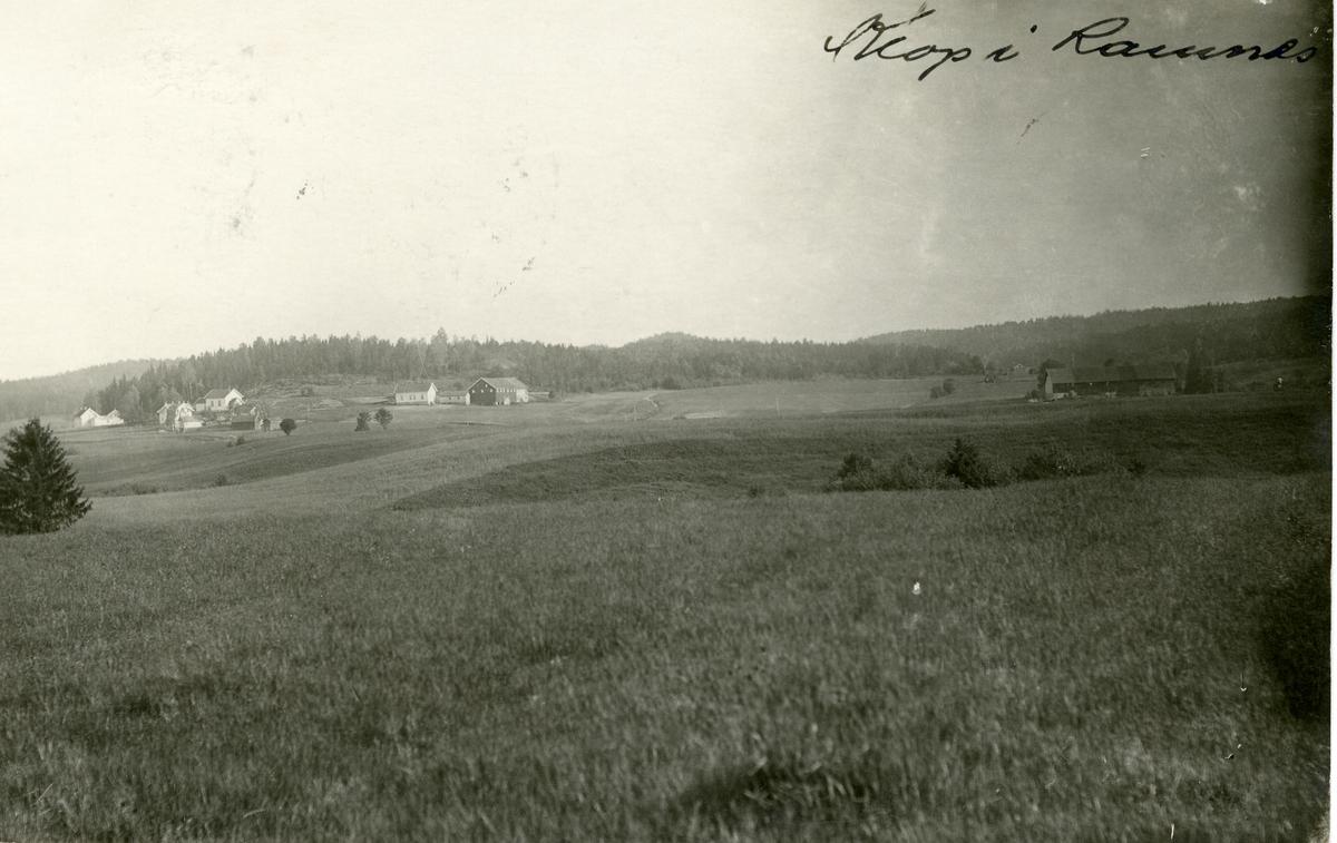 Postkort med motiv av gården Til Olav Wold på Klopp i Ramnes, Re kommune.