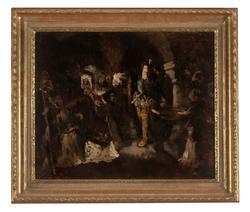 King Gustav Vasa Blaming Bishop Peder Sunnanväder at Cathedr