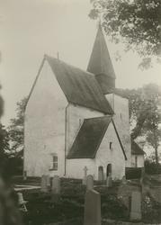 Motiv från Hossmo kyrka.