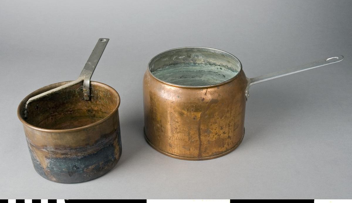 Limpanna SK:REK 7040 a har formen av en kastrull i koppar med fastnitat handtag av stål. Den används för uppvärmning av vatten, där ett kärl av koppar sänkes ned för uppvärmning och tillverkning av benlim. Insidan är förzinkad. Måtten ovan avser ytterkärlet.  Ett limkärl för benlimmet har nr SK:REK 7040 b. Limkärlet har ett handtag fastnitat. Måtten på denna är 285 mm inklusive handtag, höjd 95 mm och diameter 130 mm.  Funktion: Varmvattenbad till benlim