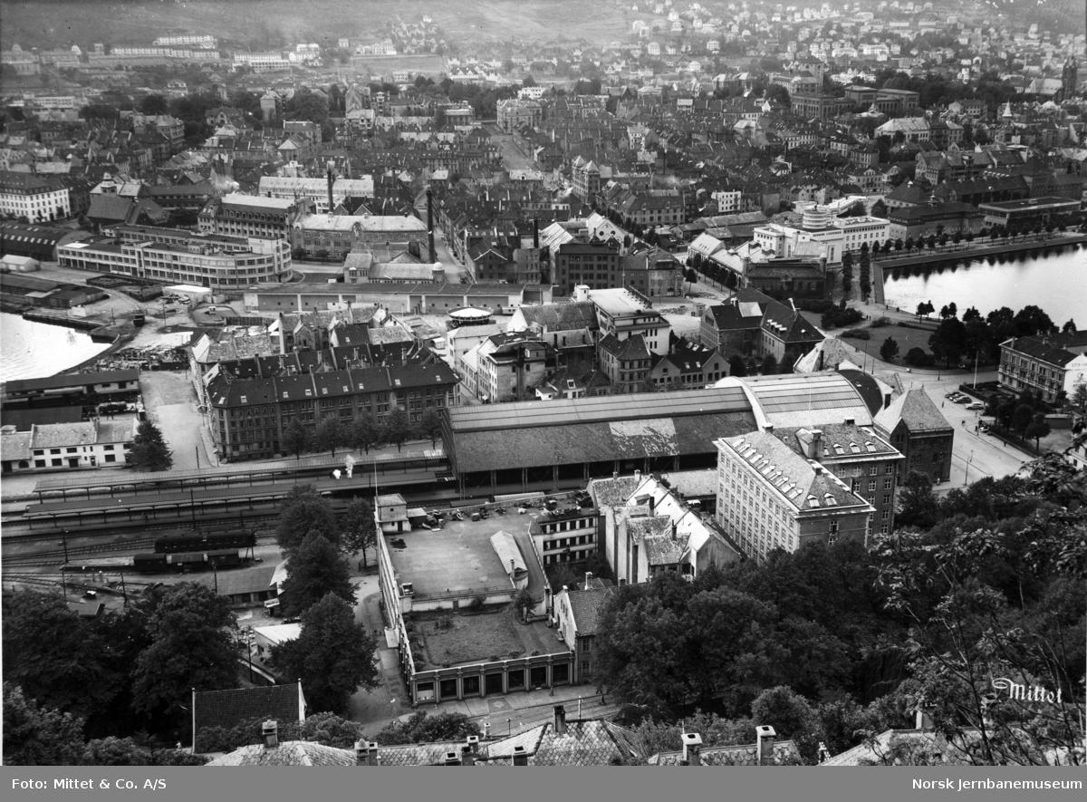 Bergen stasjon sett fra Kjerringen
