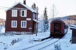 Trevatn stasjon med tog.