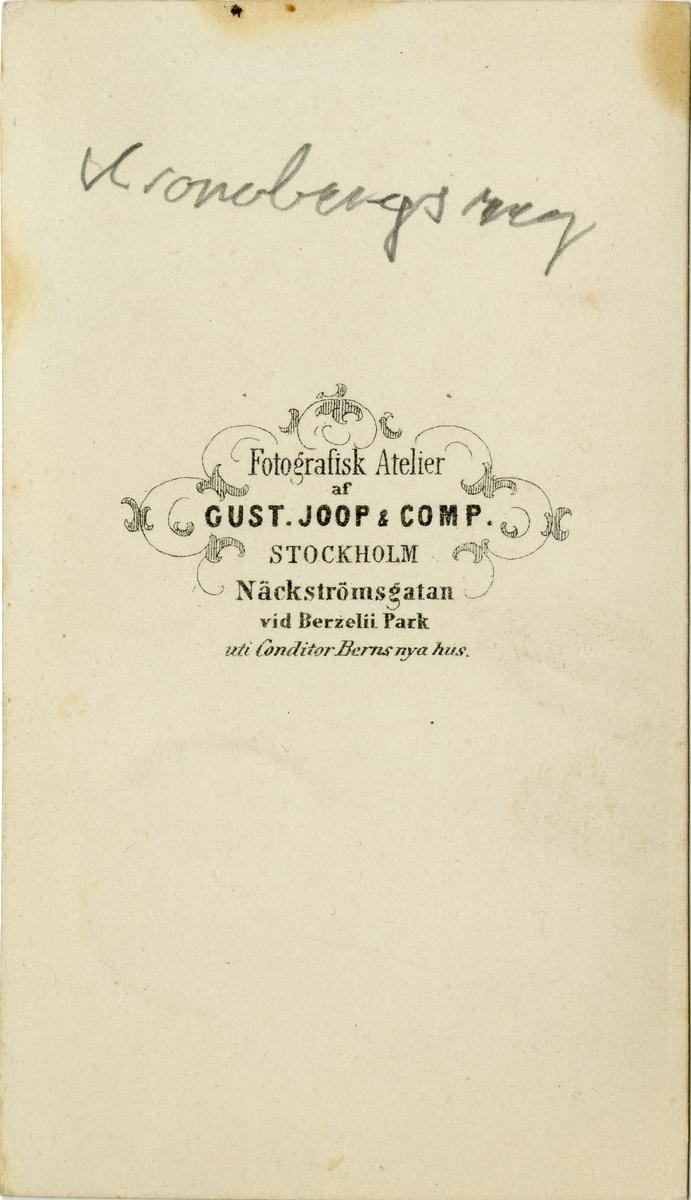 Porträtt av okänd officer vid Kronobergs regmente I 11.