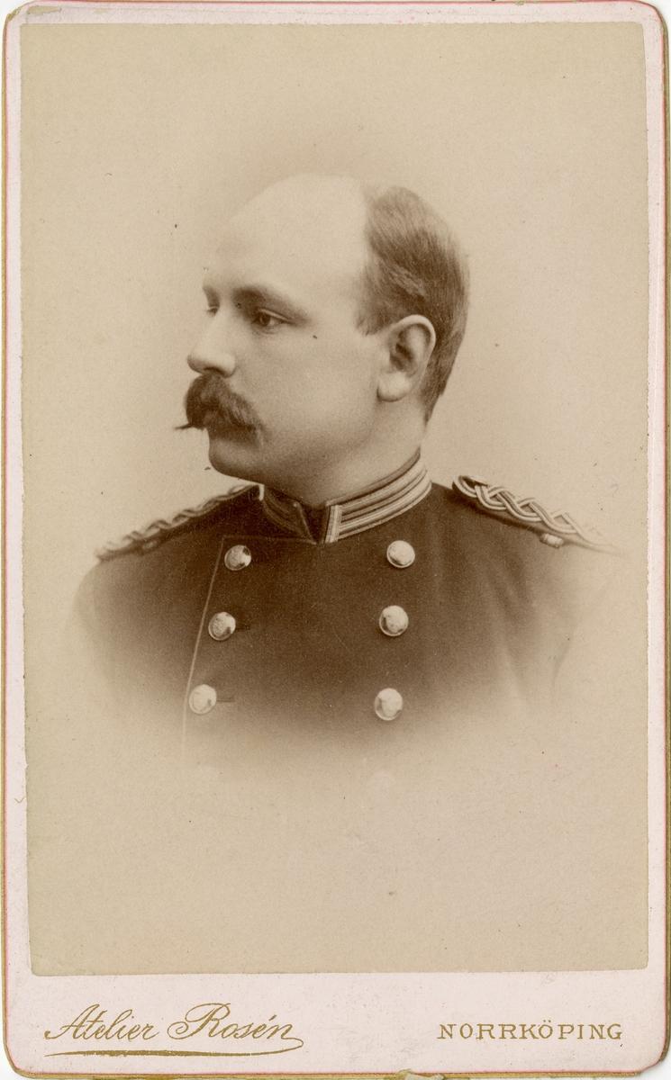 Porträtt av Anders Herman Hjalmar Richard Lilliestierna, officer vid Skaraborgs regemente I 9.