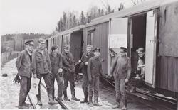 Arbeidslag på museumsbanen Urskog-Hølandsbanen på Bingsfoss