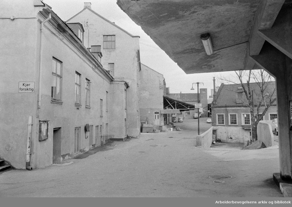 Maridalsveien: Sosialsenteret. Maridalsveien 3. skal bli sosialsenter. Oktober 1972