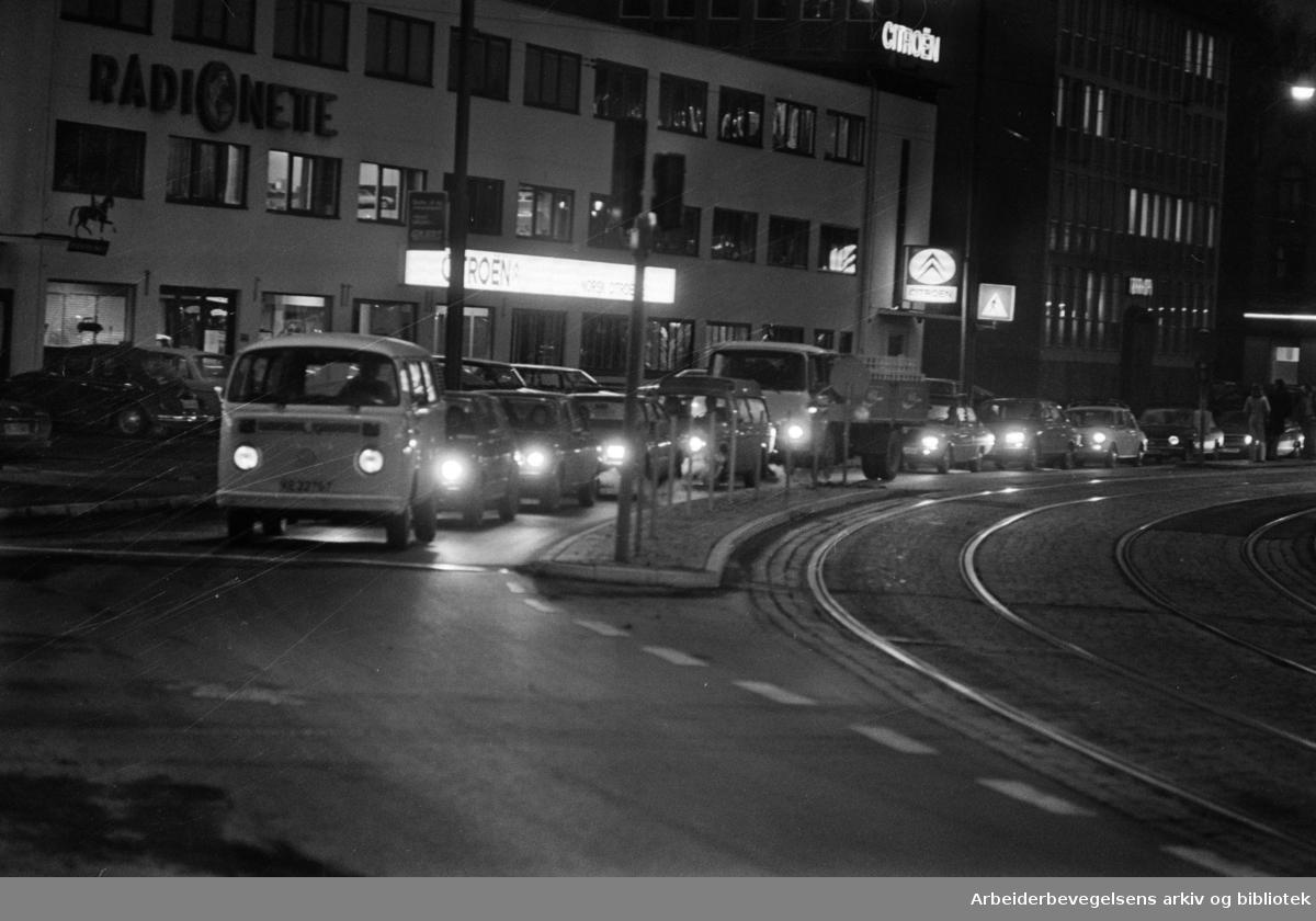 Drammensveien, november 1975