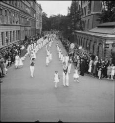 1. Mai 1932 på Dælenenga i Oslo. Medlemmer av A.K.K. (Arbeid