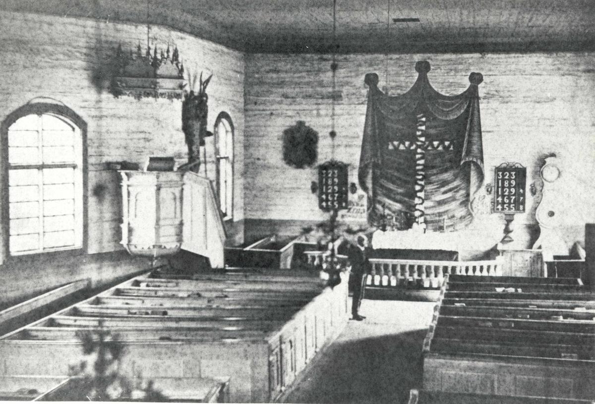 Interiör från Fagerhults kyrka.