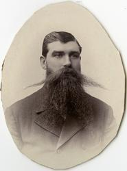 Porträtt av A. streijffert vid Stockholms Tyg-, ammunitions-