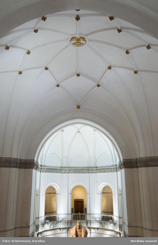 Detalj av taket i Nordiska museets stora hall