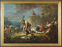 David og den drepte Goliat [Lerretsmaleri]