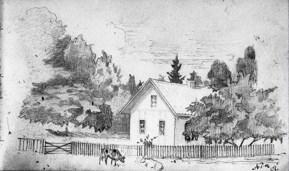 Teckning av Axel Peter 1882.