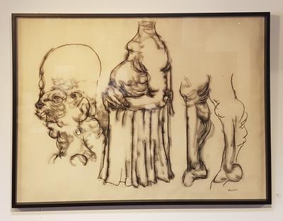 Uten tittel. Tegning. 80x105 cm. Kr. 16 667
