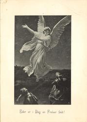 engel som svever over hyrdene og viser veg