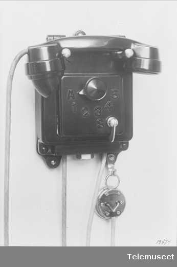 Telefon, skipstelefonapparat, Elektrisk Bureau.