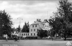 Karlsborg, hotell Gästis, Storgatan/Kungsgatan, förutvarande