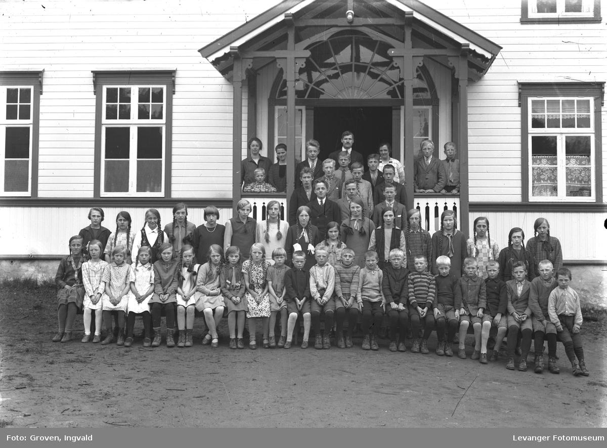Skolebilde fra folkeskole, Markabygda skole.