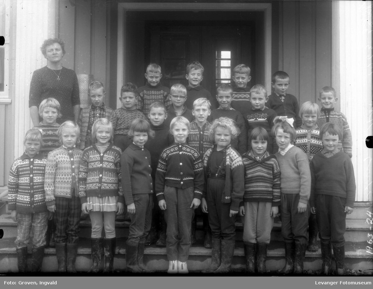 Skolebilde fra folkeskolen, Reithaug skole.