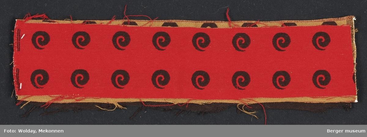 Sneglehus stilisert Møbelstoff. Prøvesett med 3 prøver