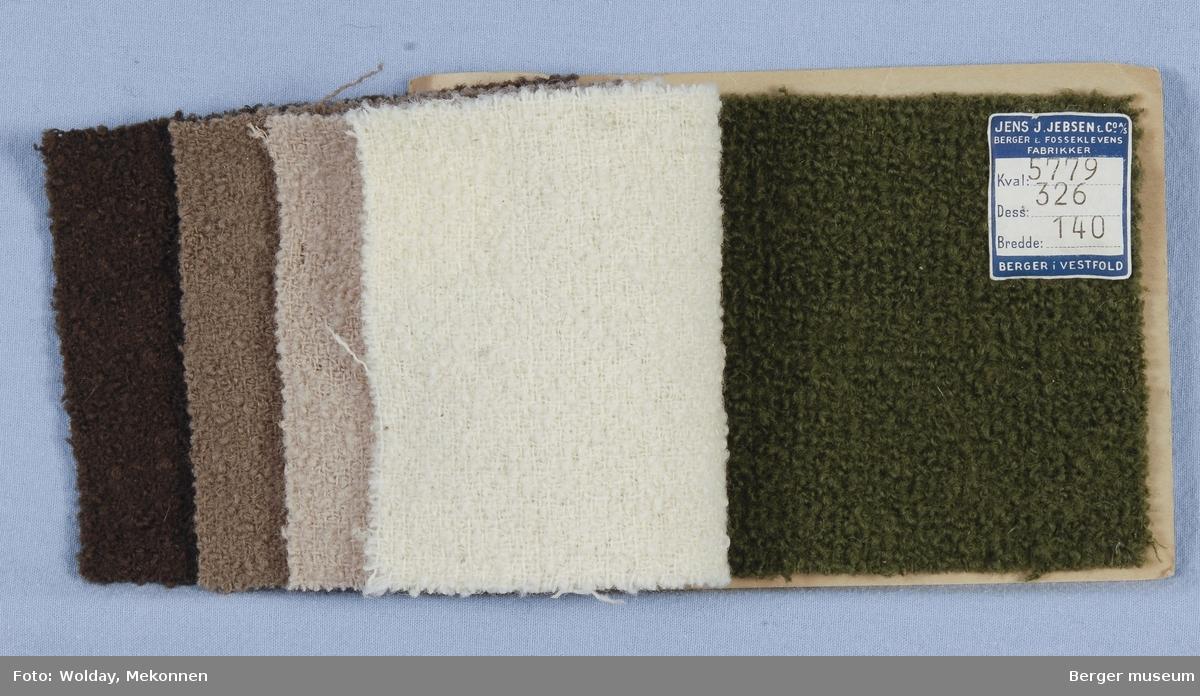 Prøvehefte med 5 prøver Kåpe Kvalitet 5779 Stykkfarget