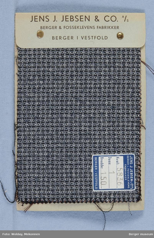 Prøvehefte med 4 prøver Drakt kamgarn Kvalitet 5836 Melert