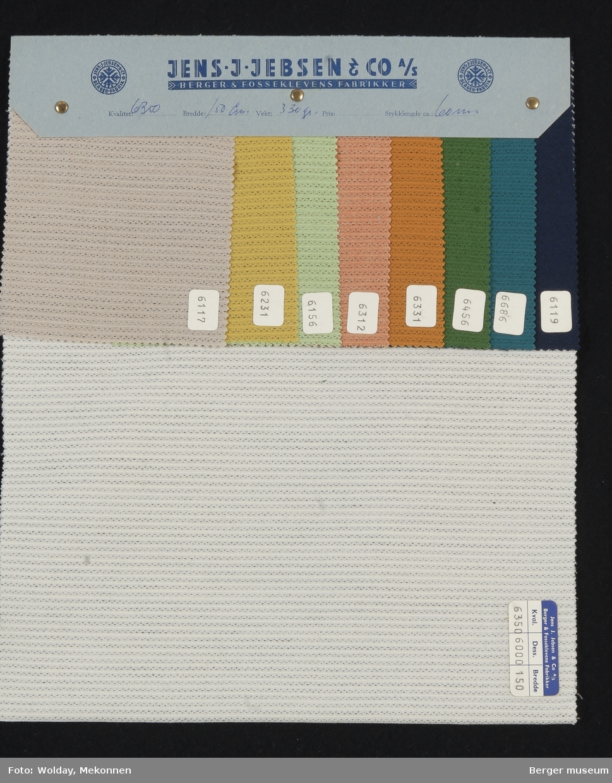 Prøvehefte med 9 prøver Kjole/skjørt Kvalitet 6350 Stykkfarget