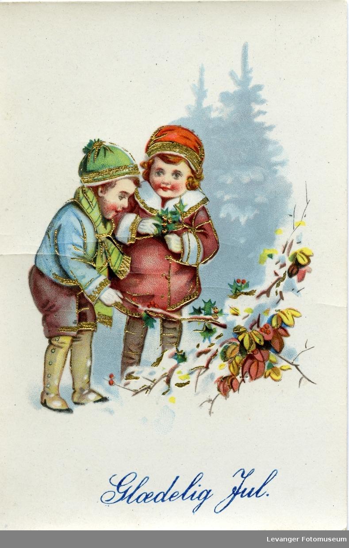 Postkort, julekort. Glædelig jul.
