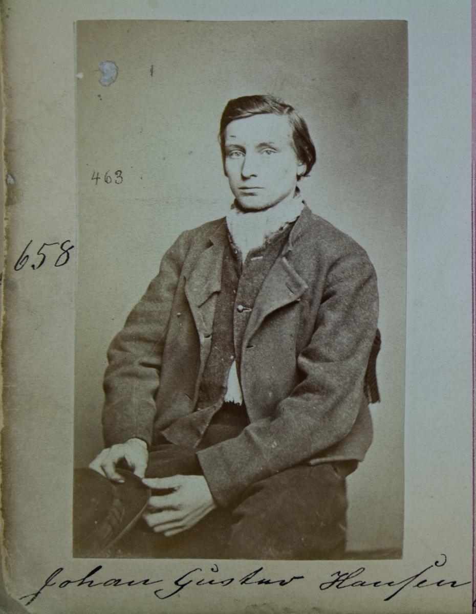 Fangeportrett, Johan Gustav Hansen